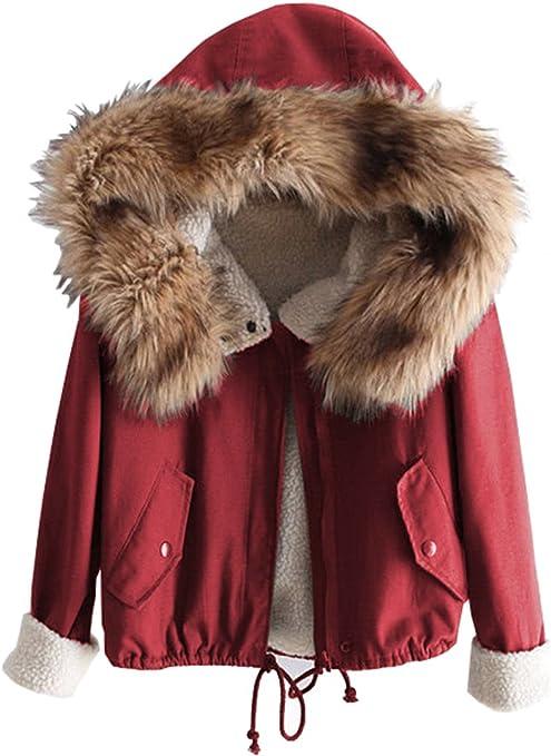 Romwe Manteau Parka Femme Rouge Large: