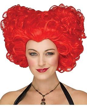 Horror-Shop Reina de Corazones Peluca roja