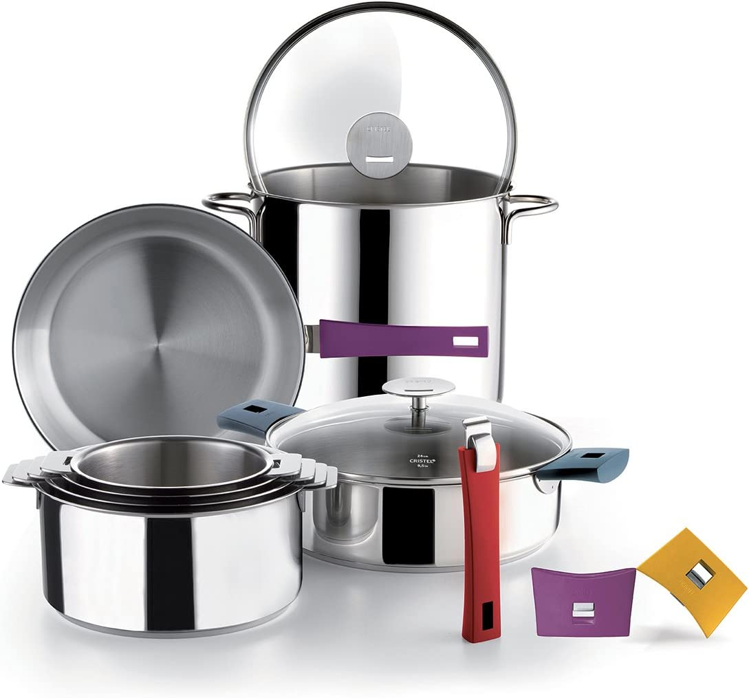 Cristel CR26QE Excalibur Non-Stick Cr/êpe Pan Stainless Steel Mutine amovible