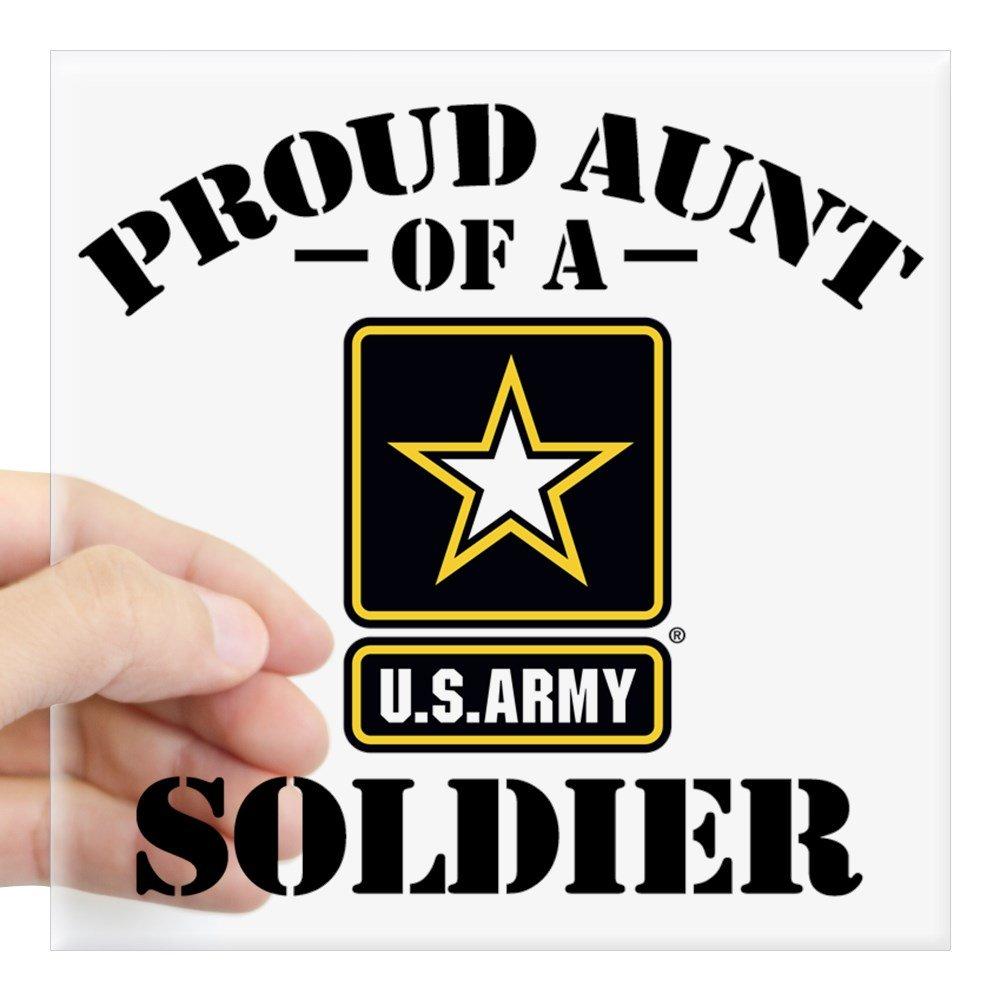 CafePress – Proudアメリカ陸軍Aunt Squareステッカー3