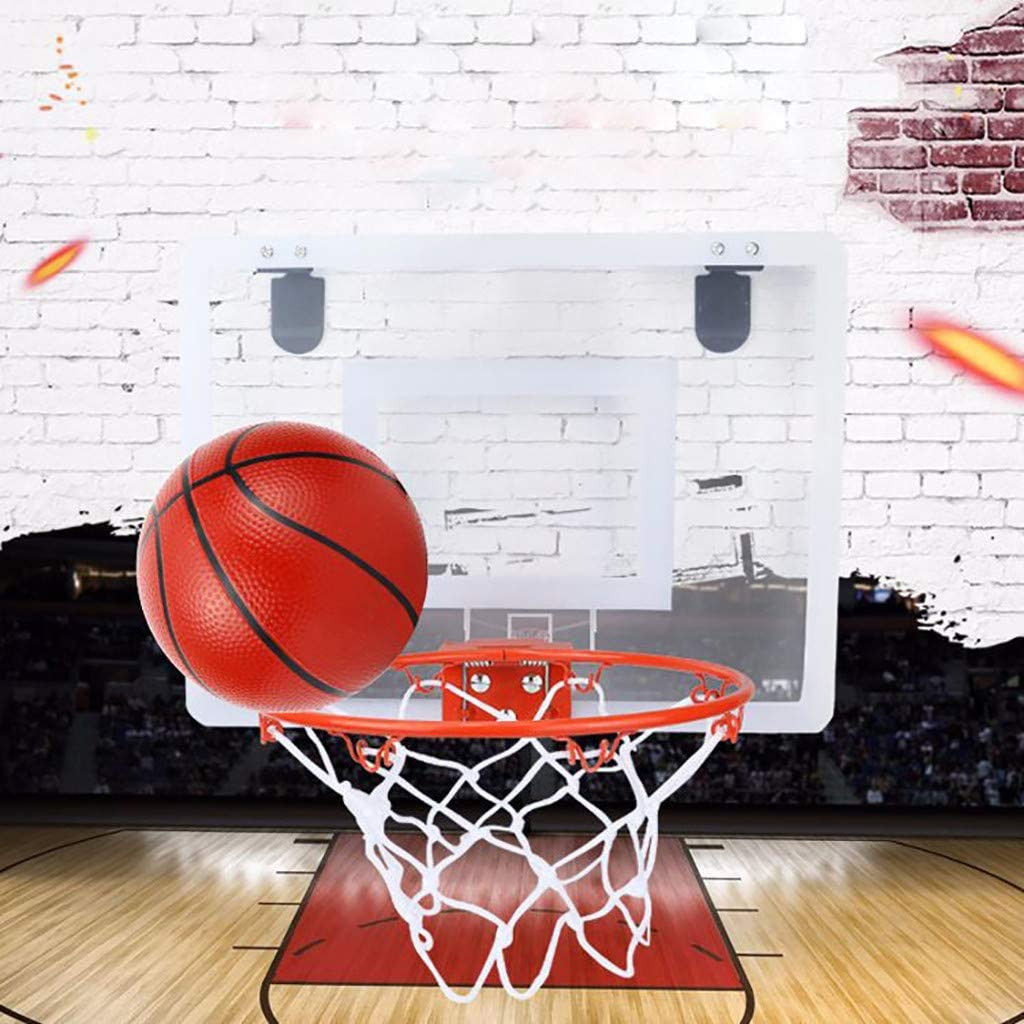 Weite Professional Wall Mounted Mini Basketball Backboard Set with 5.5 Inches Ball Practices Your Dunks Anytime Durable Adjustable Indoor Sports Game Toy Anywhere