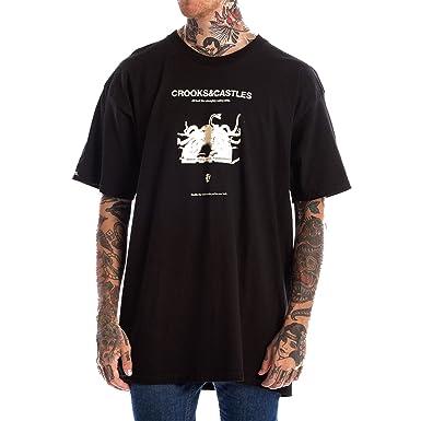 ef8436ee24019 Amazon.com  Crooks   Castles Men s You Mad T-Shirt  Clothing