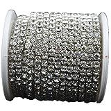 10 Yard Crystal Rhinestone Close Chain Clear Trim Sewing Craft Silver color (4mm)