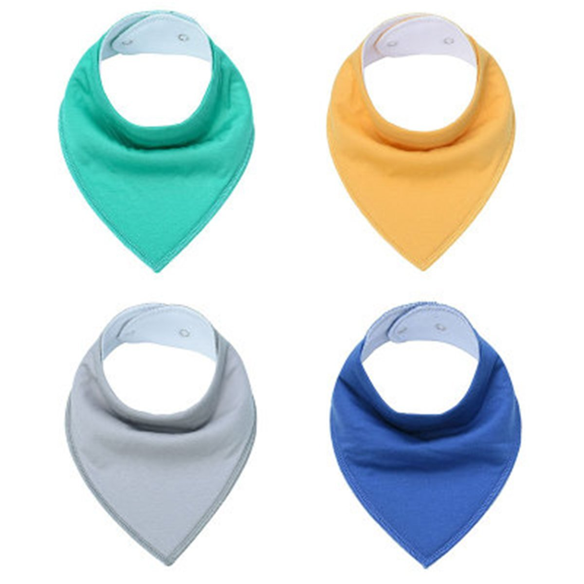 Solid Bandana Drool Bibs for Boys and Girls Super Absorbent Baby Gift Sets