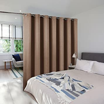 Room Divider Curtain Screen Partitions   NICETOWN Blackout Room Divider  Blackout Patio Door Curtain Panel For