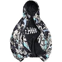 WuyiMC Hoodie Men's Jacket Two Sides Wear Thin Jacket Windbreaker Jacket Hooded Casual Top