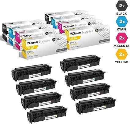 4 pk CF380A CF381A CF382A CF383A Color Set for HP MFP M476nw Printer BEST DEAL!