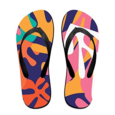 b39bb6415d443e Amazon.com  Abstract Pattern Top Quality Unisex Flip Flops Rubber Thong  Sandal Beach Slipper For Women Men  Clothing