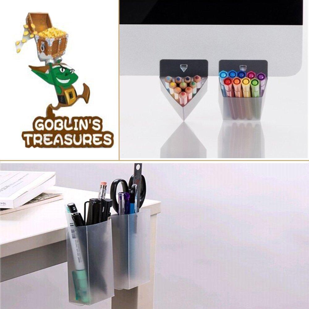 Le Bouffon S Treasures Creative DIY /écran Pen crayon Sacs de supports Accessoires de bureau Desk organiseurs conteneurs de stockage Bags-3/Lot Blanc trap/èze
