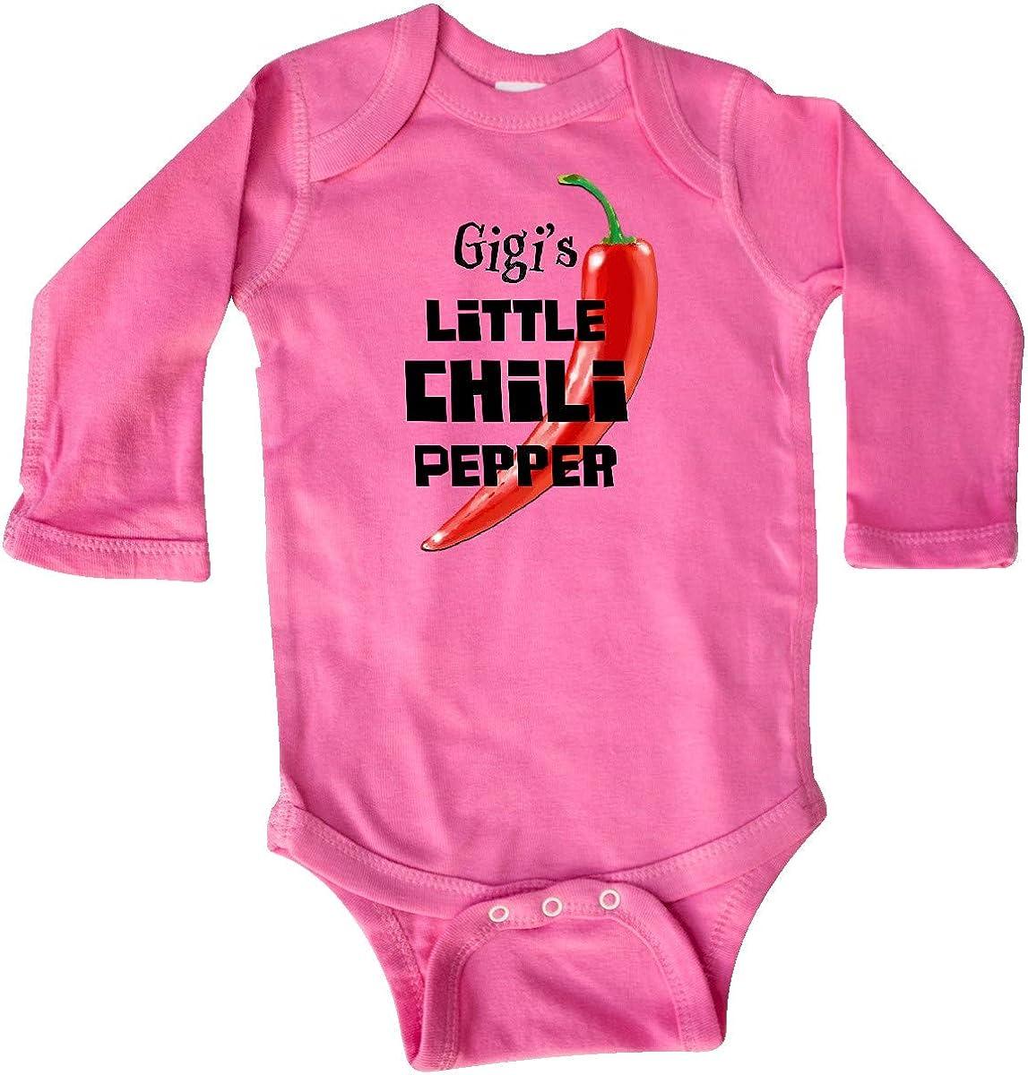 inktastic Gigis Little Chili Pepper Long Sleeve Creeper