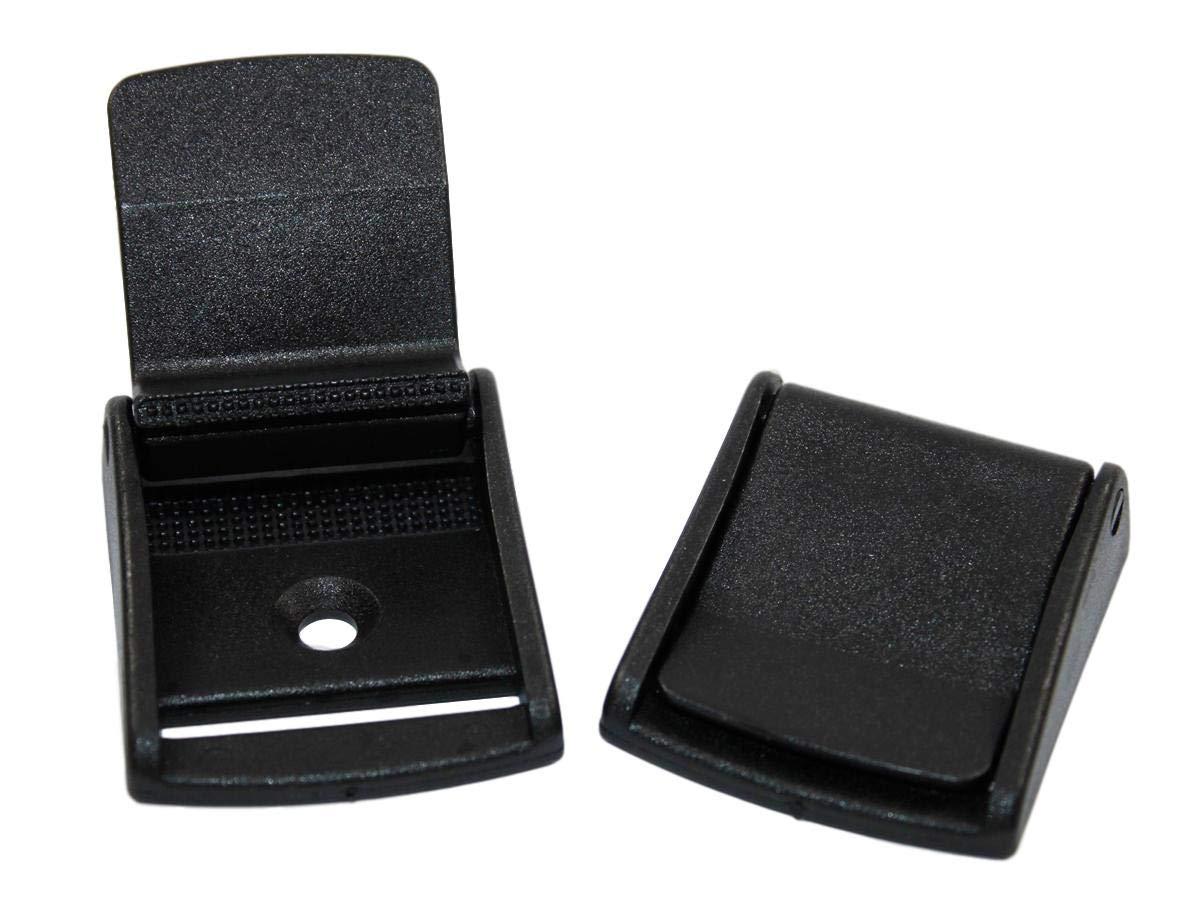 schwarz Schnallen /& Schlie/ßen Klemmschloss-Klemmschnalle Kunststoff breite 30 mm 1, 30mm