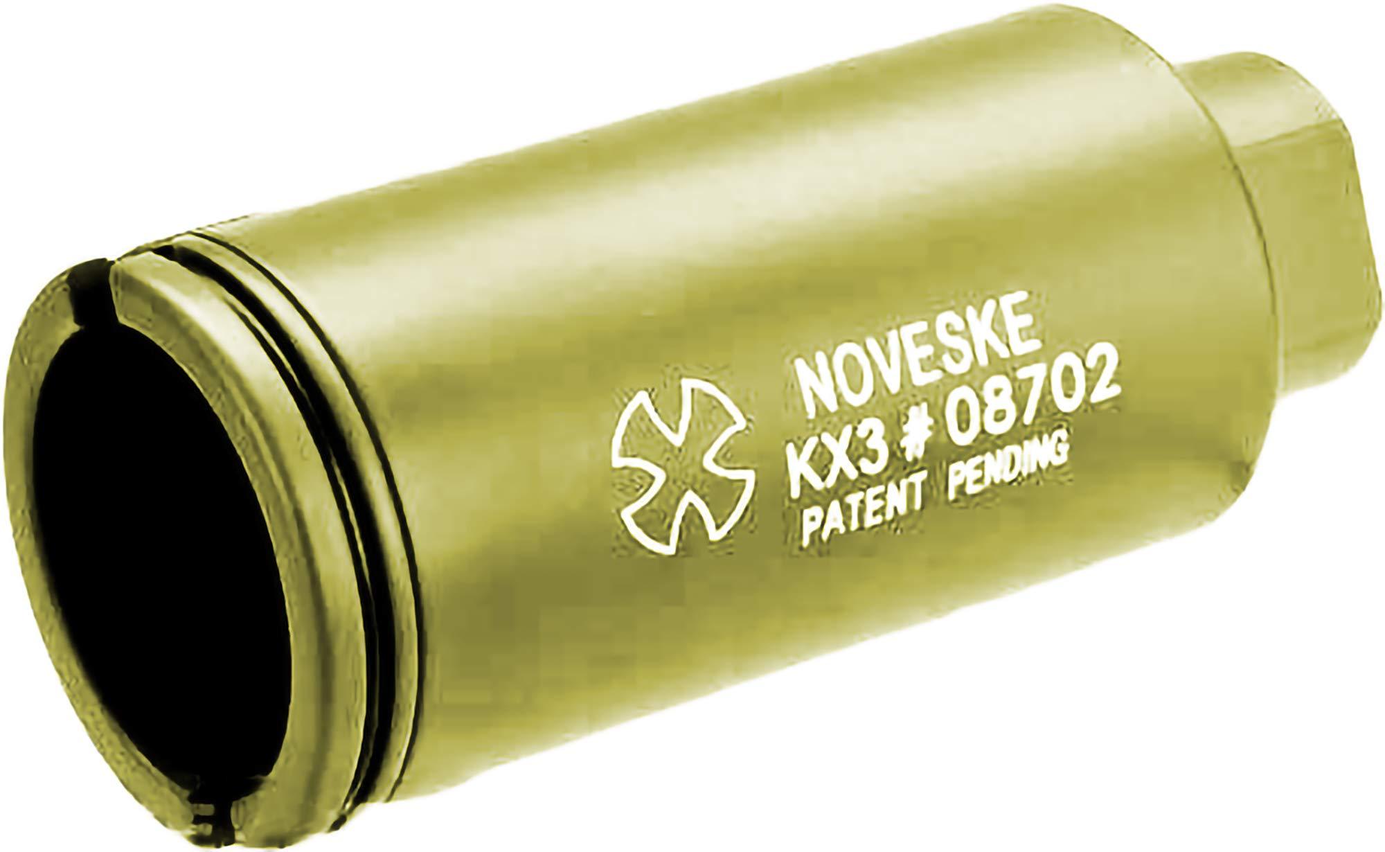 Evike Madbull Noveske KX3 Airsoft Sound Amplifier System (Color: Gold / 14mm Negative) by Evike