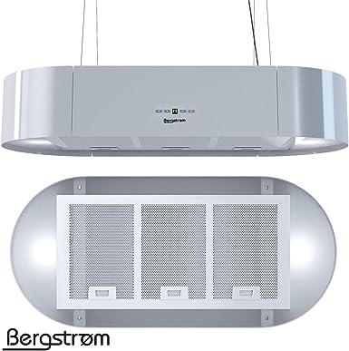 Campana extractora KLAAS de Bergstruum, colgante, ovalada 60 cm Weiß (Hochglänzend): Amazon.es: Grandes electrodomésticos