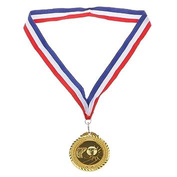 6.5cm Medaille Spielzeug Mit drei Farben Streifen Umhängeband für ...