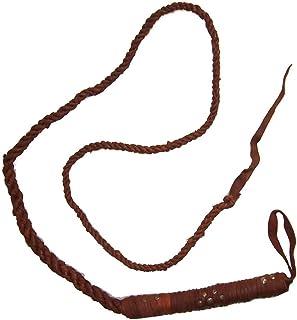 Lot de 5 Fouets marrons en cuir naturel avec rivets Cravache Loisir indischerbasar.de brown