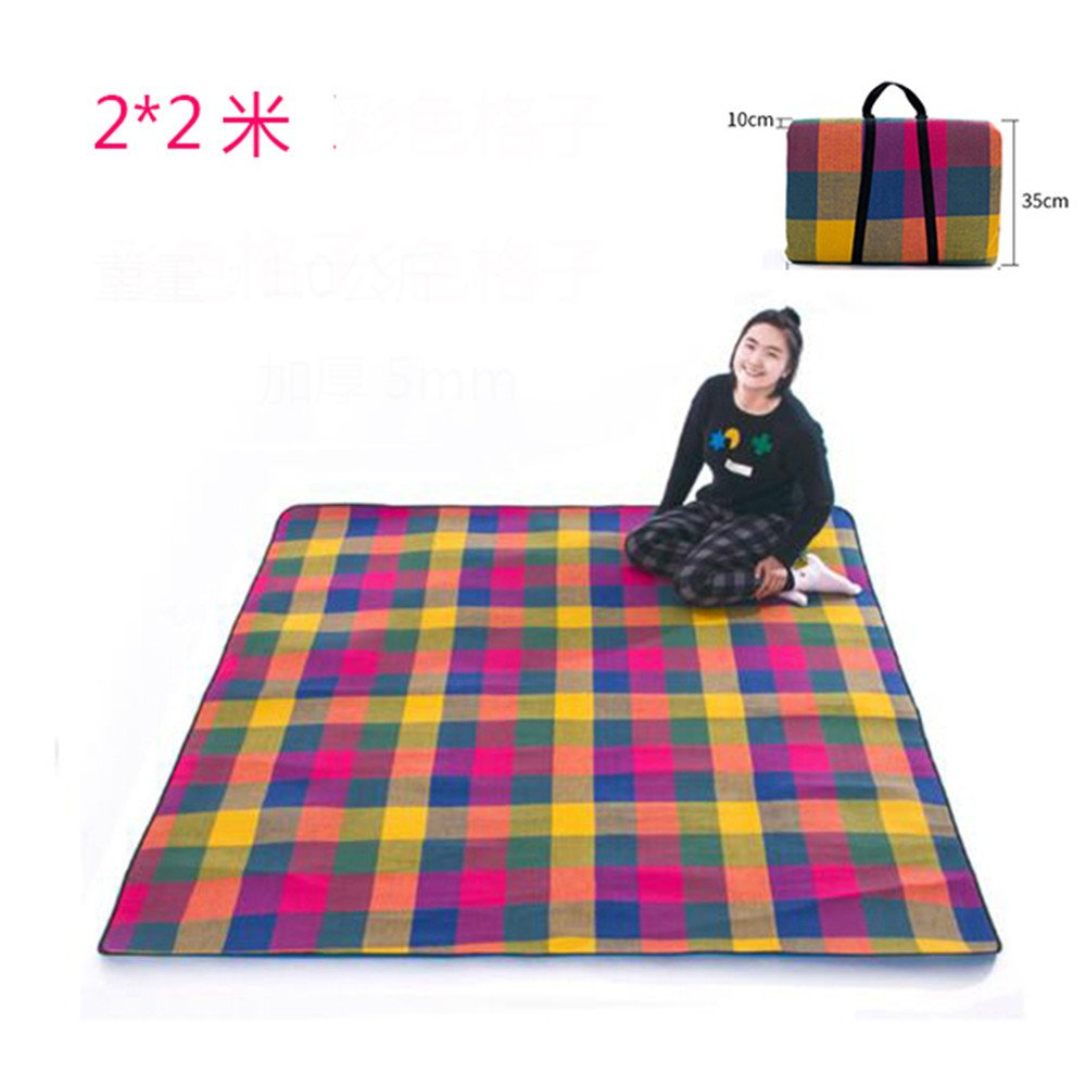 MONEYY The Picnic mat rot and Weiß format outdoor portable moisture pad tent picnic the picnic camping mats 300370cm