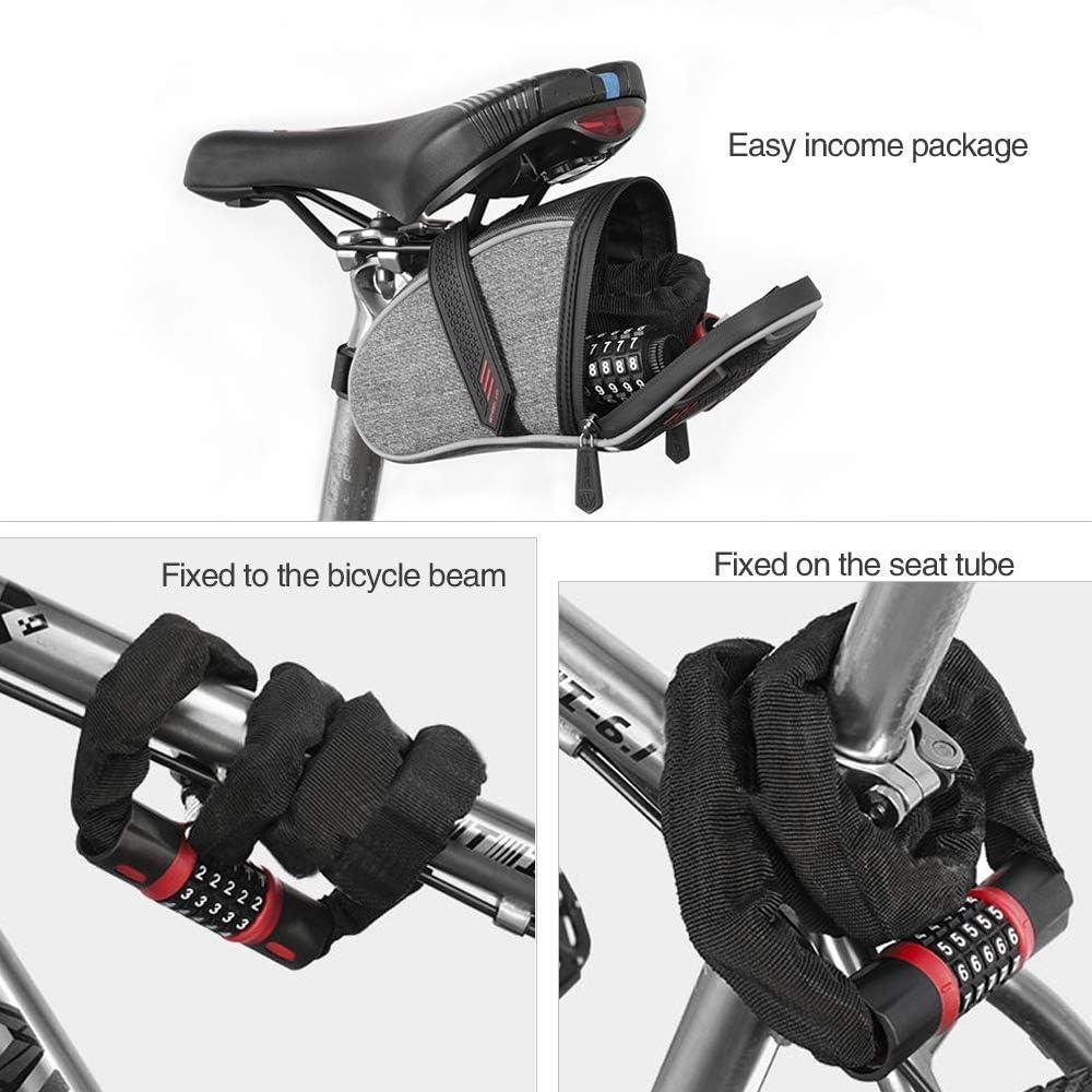 C/âble de V/élo Combinaison de de Bicyclette 1 Portails et Cl/ôtures TONWON Verrou de Cha/îne pour V/élo Motos Portes Verrouillage Antivol de S/écurit/é /à Mot de Passe /à 5 Chiffres pour Bicyclettes