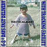 NAUTICALMART Medieval Chainmail Shirt 5-10 yrs Size Butted Chain Mail Haubergeon for Kids