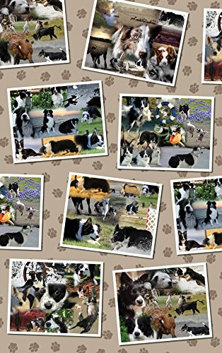 Photo Collage - Border Collie Wrapping Paper