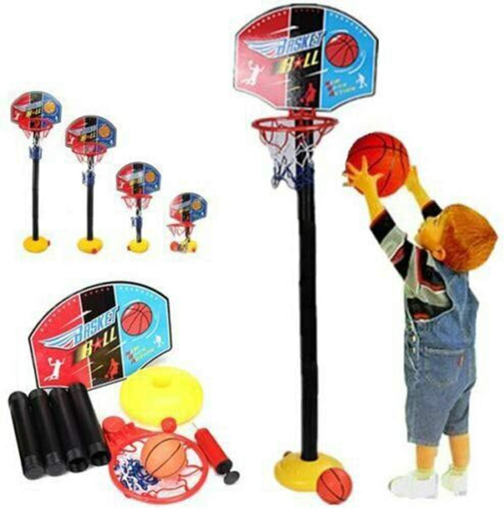 TXYFYP Basketballkorb Kinder Einstellbare Basketballst/änder tragbares Basketball-Set Kinder-Basketballst/änder mit Reifen und Ball im Innenbereich verstellbares Sportspielspielset f/ür Kinder Sport