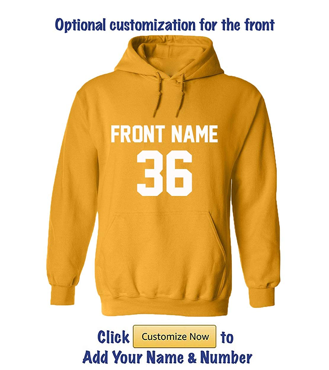 Amazon.com: Custom Hoodies - Add Your Name & Number - 2 Side Personalized Sweaters: Clothing