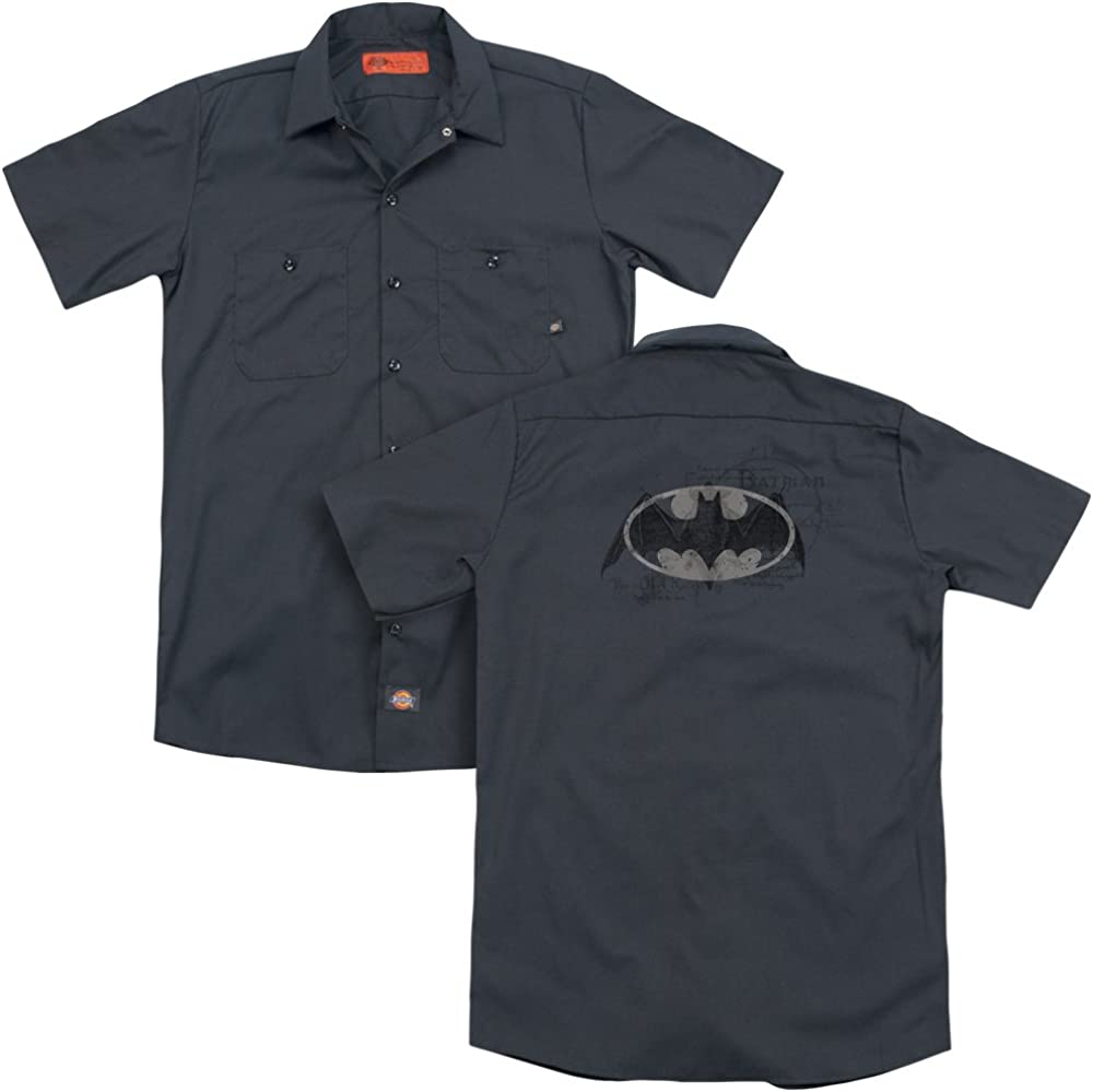 Hawaiian Bat Adult Work Shirt Sons of Gotham Batman