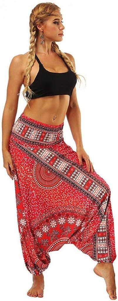 Mujer Tailandeses Estampado Verano Cintura Alta Elastica Para Yoga Casual Hippie Bohemia Gitana Elastica Pantalones Dragon868 Verano 2020 Pantalones Hippies Mujer Ropa Ak Oz Com
