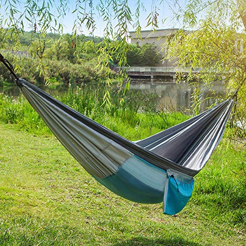 Newdora Hammock with Mosquito Net 2 Person Camping, Ultralight Portable Windproof, Anti-Mosquito, Swing Sleeping Hammock Bed with Net and 2 x Hanging Straps for Outdoor, Hiking, Backpacking, Travel