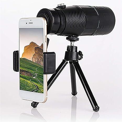 TYXS Telescopio Monocular 10 x 42 HD, Lentes Multicapa Prisma BAK-4, con trípode y Adaptador para Smartphone para la observación de Animales o Aves, Viajes de Caza, Juego de Pelota, Concierto: Amazon.es: