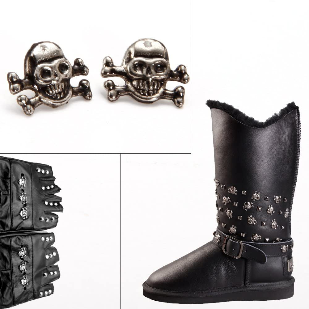 50x Punk Skull head Leather Rivets Set for Bag Shoe Clothing Leathercraft