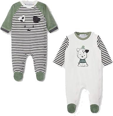 Mayoral Set 2 Pijamas tundosado Bebe niño Modelo 2772 (9 ...