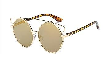 Wer Bin Ich Frau Fashion Metall Runden Rahmen Sonnenbrille Bunte,Silver