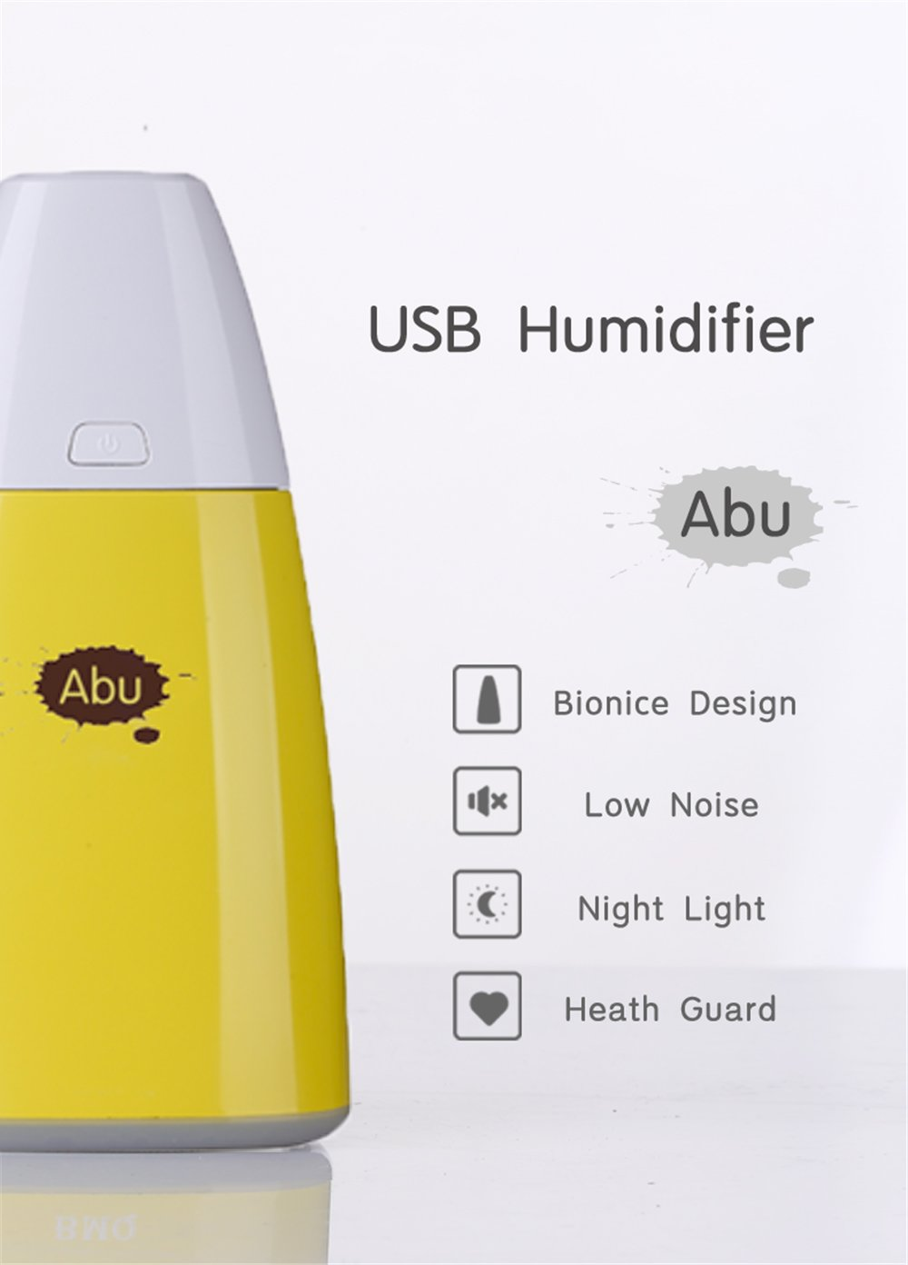 Mini Usb Desktop Humidifier Cool Mist Air Vaporizer Portable Ultrasonic Quiet Humidifiers 250Ml For Car Home Office Bedroom Travel with 7 Color Changing Led Night Lights by Beikaisi (Image #3)