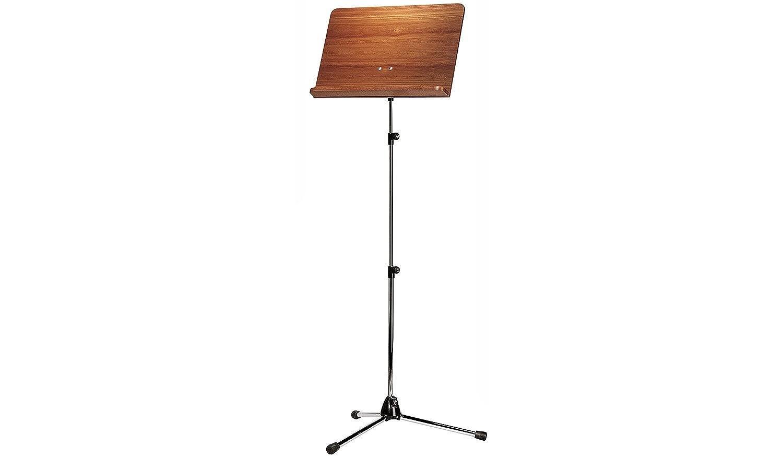 K&M オーケストラ譜面台 木製(ウォルナット)盤面 【118/4】 カラー:クロームパイプ   B01FXSNDES