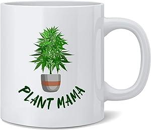 Plant Mama Marijuana Pot Home Grown 420 Ceramic Coffee Mug Tea Cup Fun Novelty Gift 12 oz
