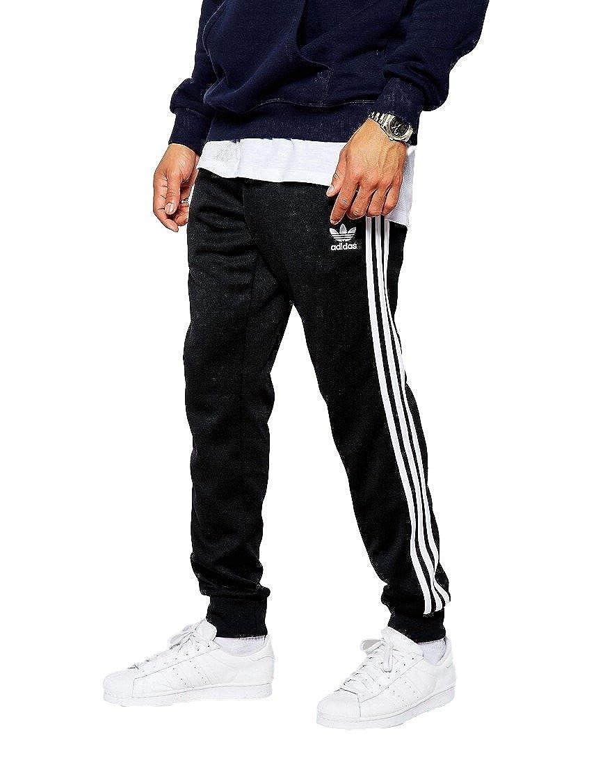 [アディダスオリジナルス] adidas Originals Superstar Cuffed Track Pants Black パンツ 黒 [並行輸入品] B01L2JC44W   M