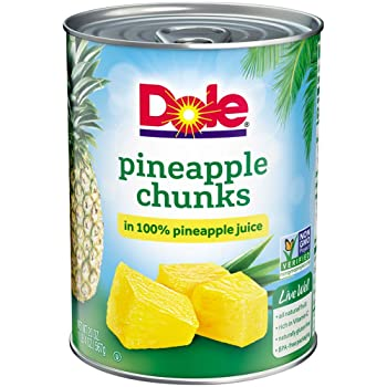 Dole 20 Ounce Cans Crushed Pineapple Juice