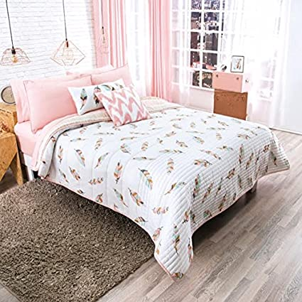 Amazon NEW PRETTY COLLECTION FEATHERS DESIGN TEENS GIRLS Interesting Teens Bedroom Designs Set Collection