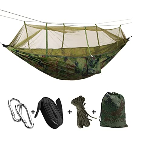 Folding Portable Camping Hammock with Mosquito Bug Netting Tent