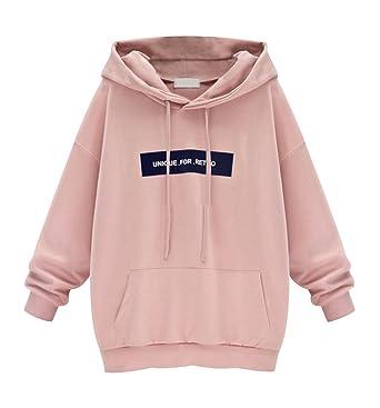 8ebbe8119bd52 Sweat a Capuche Femme Sweat à Capuche Hoodies Pull Large Robe Sweat Shirt  Long Imprimé Sweatshirt