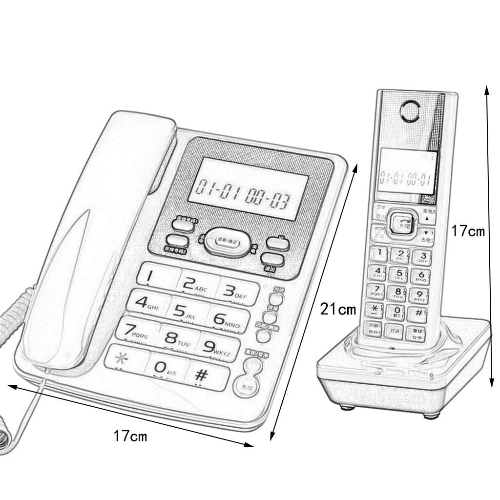 SunXue with Orange Large Screen Welcome & Telephone- Call Interceptor and Digital Answering Machine (Color : Whit2) by SRING (Image #2)