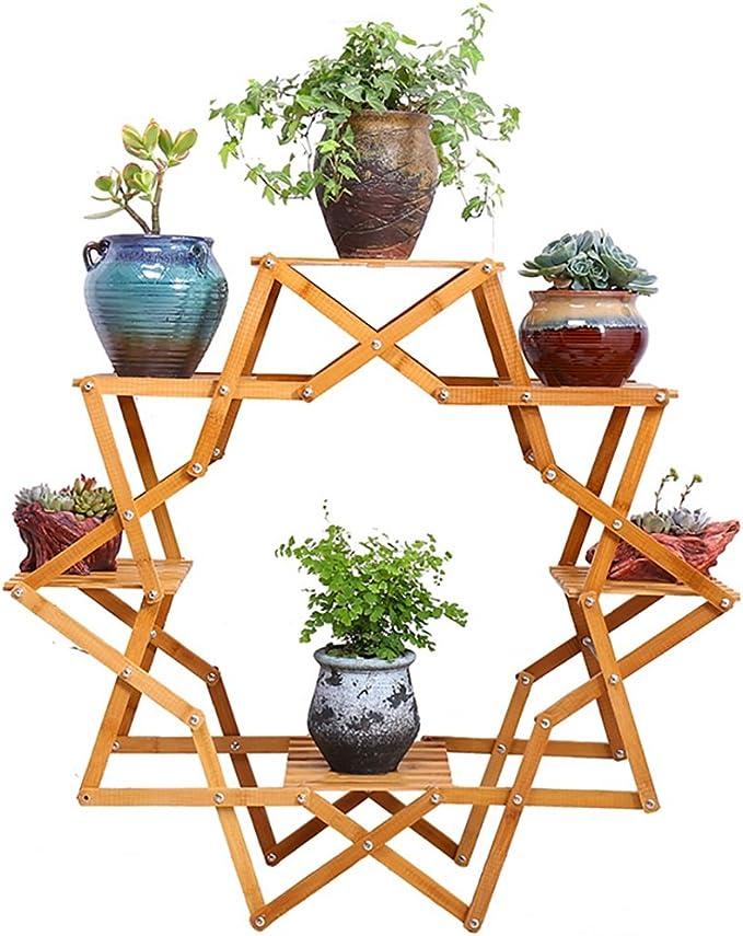 SMHJ estantes para Plantas Madera Plegable Maceta de Jardín Jardinera Display Escalera Gardener Estantes de Almacenamiento Rack Herb Holder 90 * 35 cm: Amazon.es: Hogar