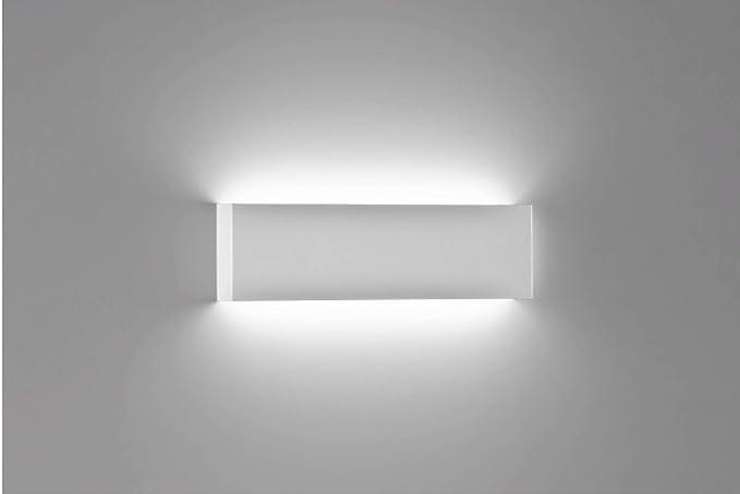 Applique rettangolare bianco led moderno w k cm spessore