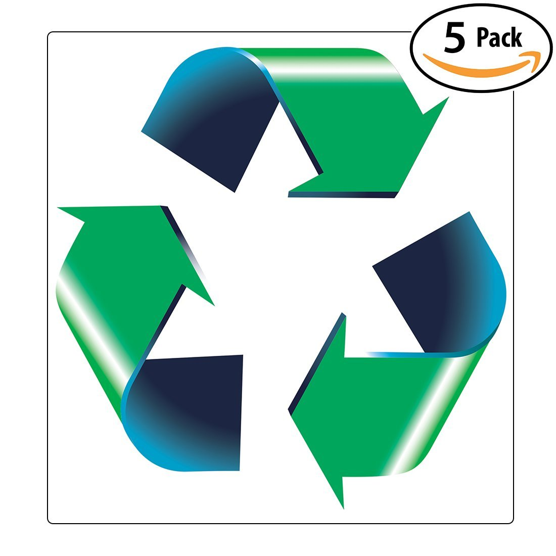 Chic retail genius oversized 8in recycle symbol sticker 5 pack for chic retail genius oversized 8in recycle symbol sticker 5 pack for green white buycottarizona Choice Image
