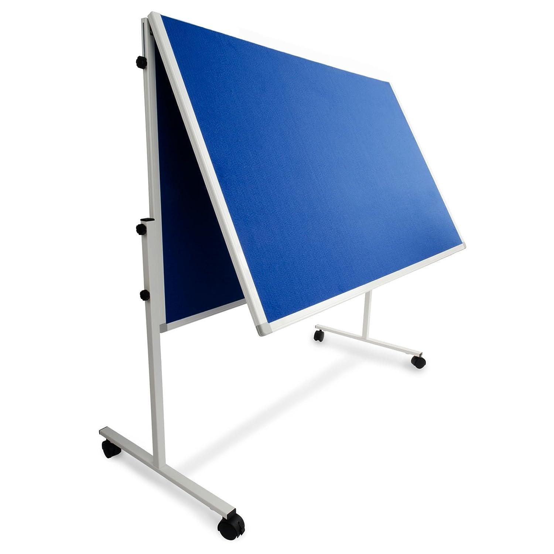 Moderationstafel Filz 120x150cm grau klappbar mit Rollen Farbe w/ählbar