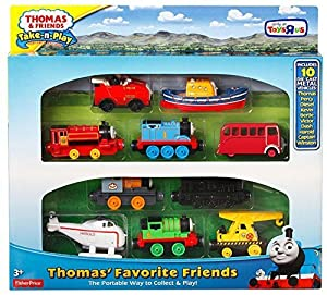 Fisher-Price Thomas & Friends Take-n-Play Exclusive Thomas Favorite Friends 10-Die-cast Vehicle Gift Set