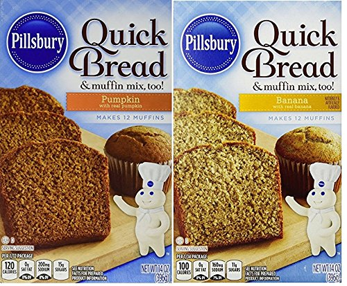 - Pillsbury Quick Bread Mixes Bundle of Two ~ One Each, Banana & Pumpkin