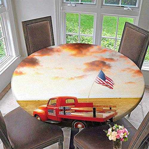 Mikihome Premium Tablecloth Gifts Vintage Funny Cars American USA Flag s Retro Wall Hanging s 40