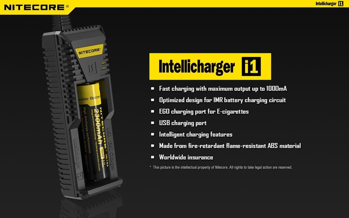 Nitecore I1 Intellicharge Smart Battery Charger For Li Ion Imr Circuit Design 26650 18650 18490 18350 17670 17500 17335 16340 Rcr123 14500 10440