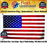 American Flag: 100% American Made – Embroidered Stars & Sewn Stripes – From Flags Unlimited (10 by 15 Foot) Review